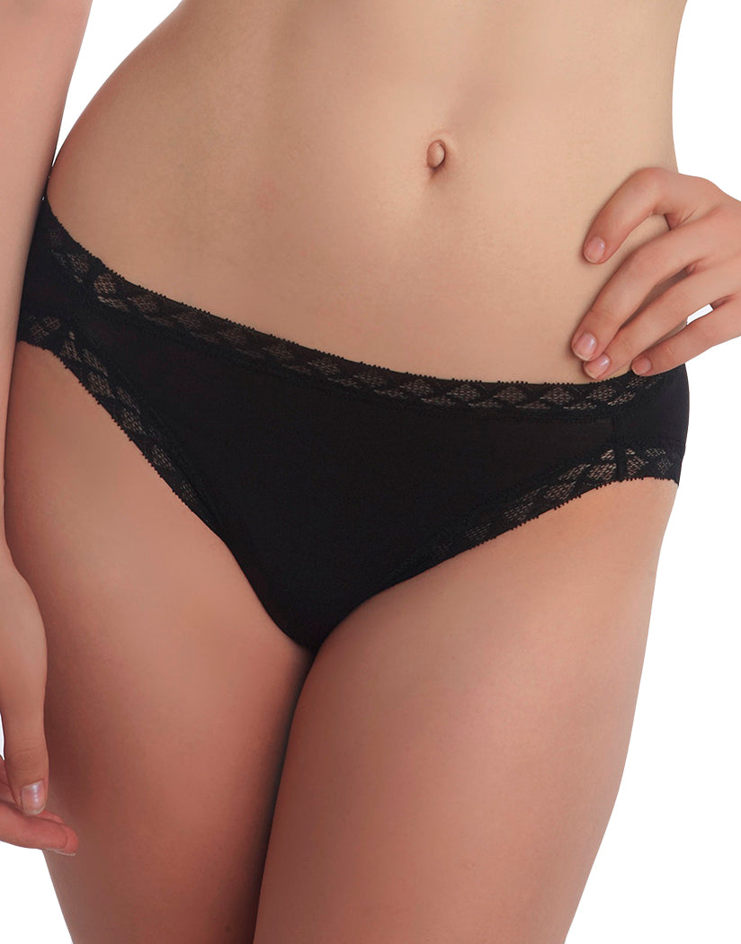 Black Front Natori Cotton Bliss Girl Brief - 156058