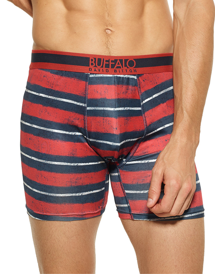 Brushed Stripe Front Buffalo Poly Stretch Boxer Brief Brushed Stripe BO10043