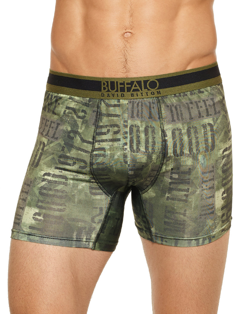 Buffalo Gunner Front Buffalo Poly Stretch Boxer Brief Buffalo Gunner BO10043