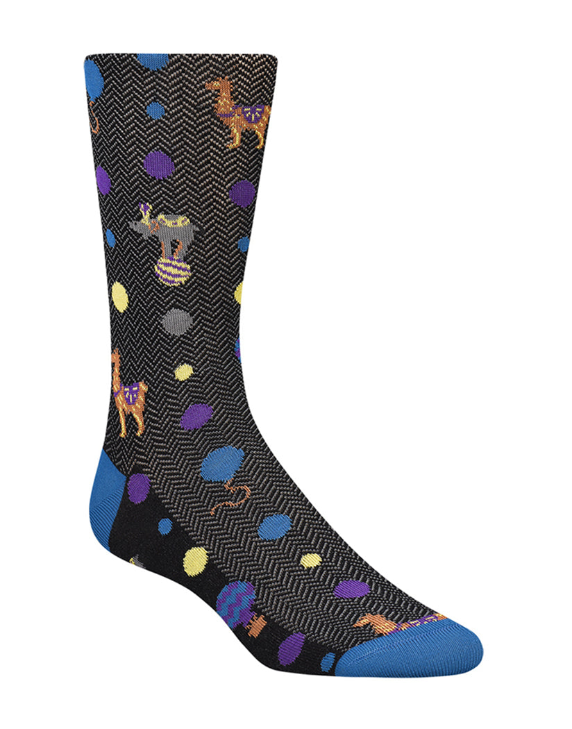 Black Front Bugatchi Mercercized Circus Sock KB7010