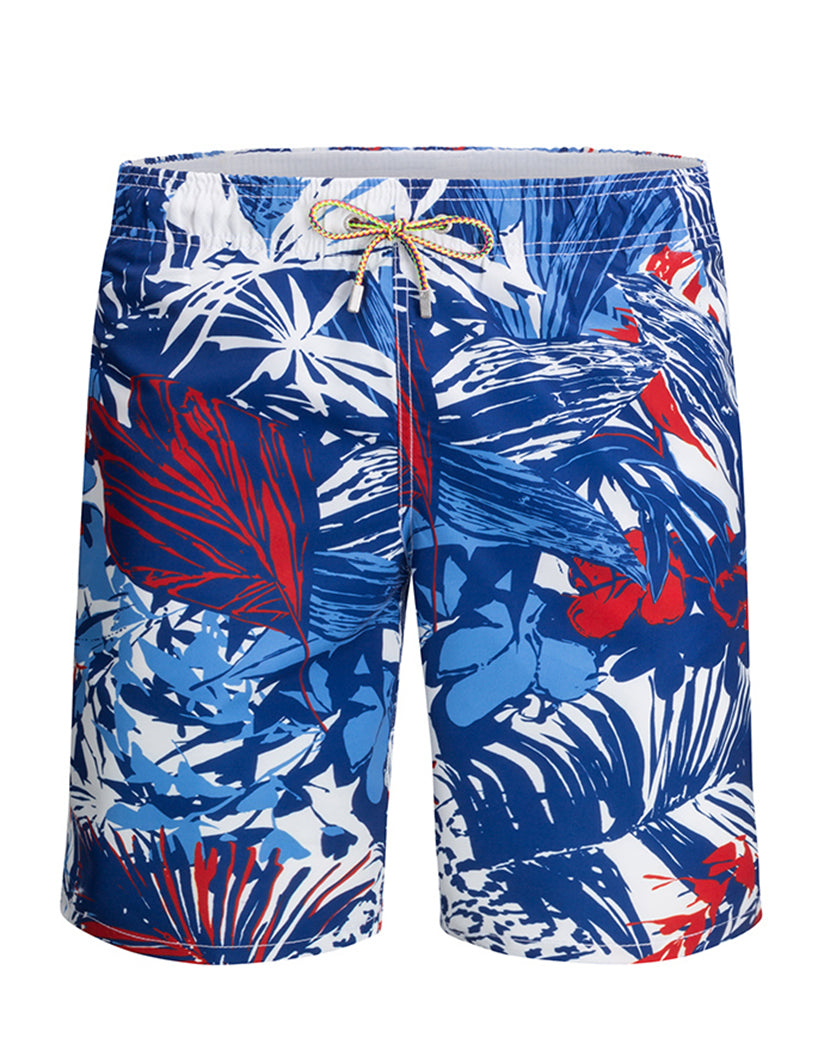 Classic Blue Front Bugatchi Tropical Blue Quick Dry Swim Trunk LXM502M13