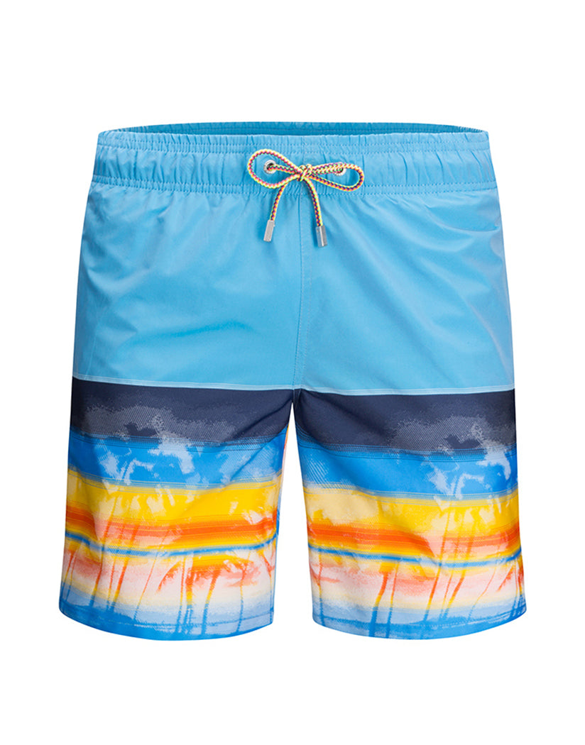 a5c2dc249a Turquoise Front Bugatchi Turquoise Swim Trunks LXM517M20