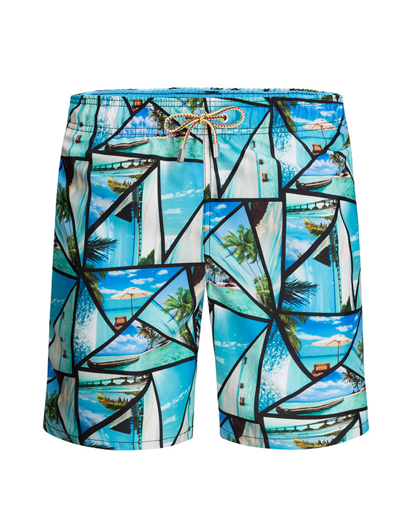 Sky Front Bugatchi Stained Glass Swim Trunks LXM525M12