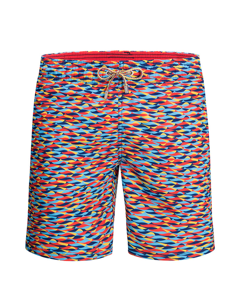 bc373eea42 Coral Front Bugatchi Coral Waves Swim Trunks LXM537M12