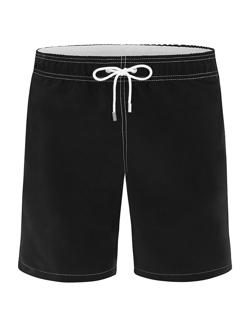 Black Front Bugatchi Solid Quick Dry Swim Trunk LXM575M4