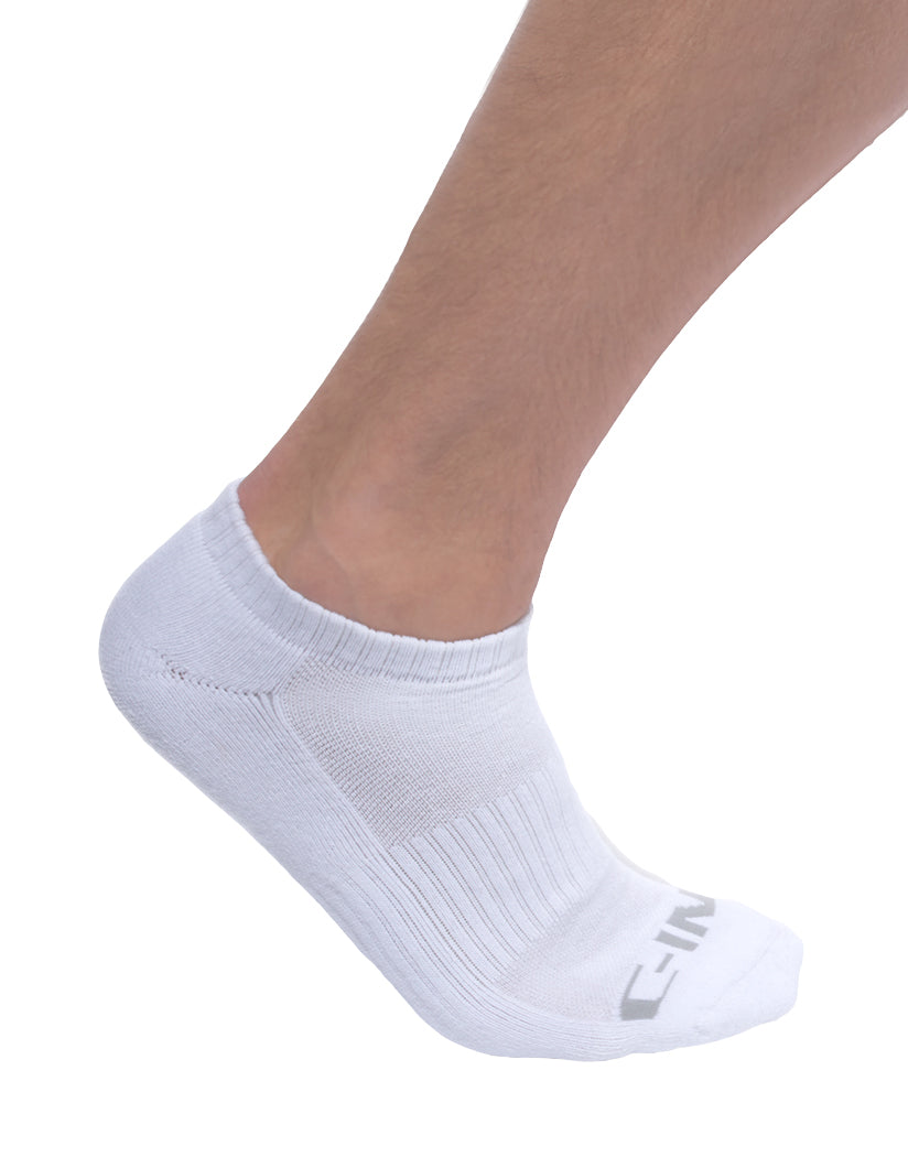 White Front C-IN2 Core No Show Socks 3-Pack