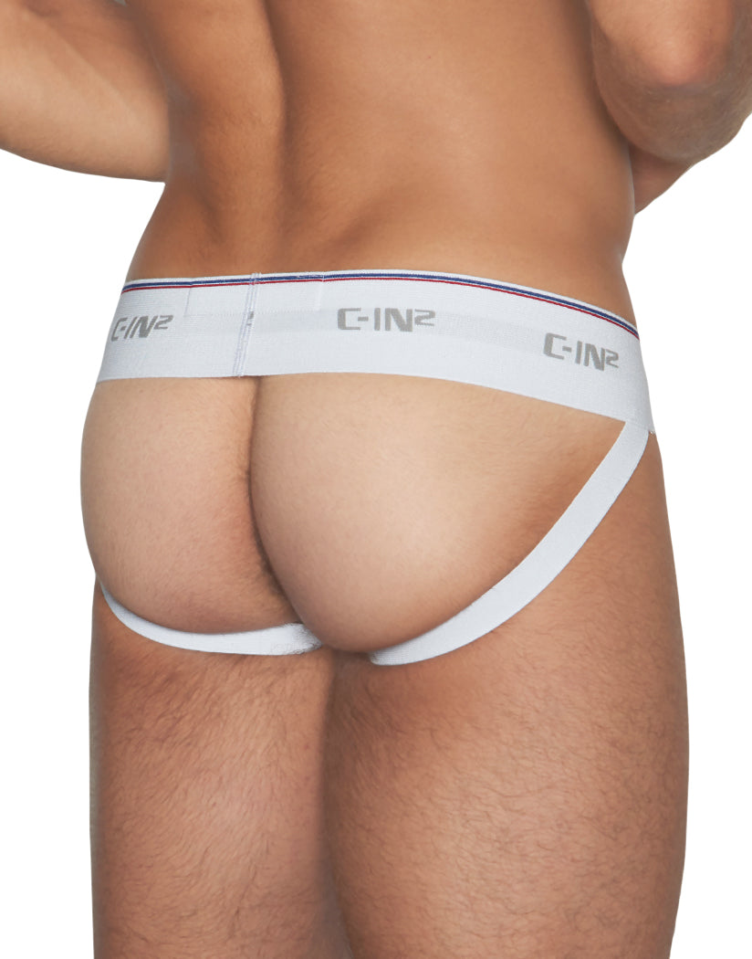 White Back C-IN2 Throwback Cotton Jock 6625
