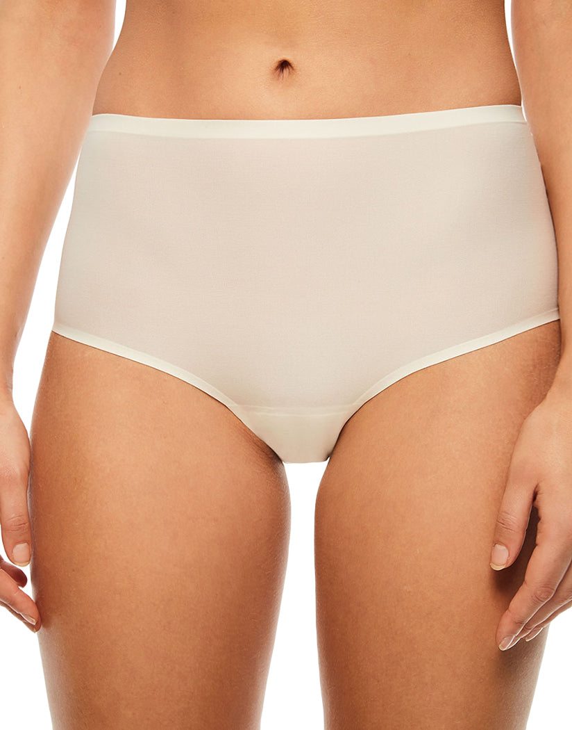 Ivory Front Chantelle Soft Stretch Seamless One Size Brief Panty 2647