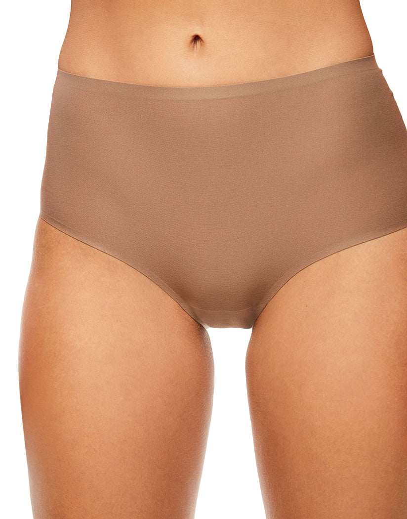 Hazelnut Front Chantelle Soft Stretch Seamless One Size Brief Panty 2647