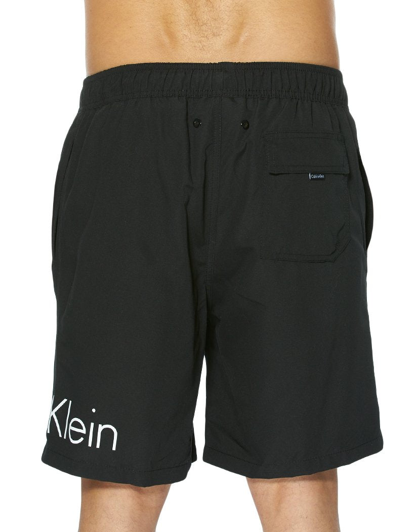 Black Back Calvin Klein Solid Volley Swim Short Black CB8V6082