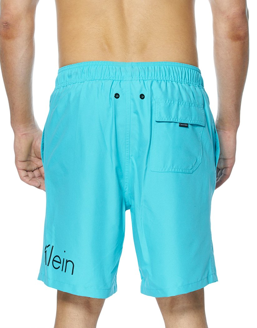 Scuba Blue Back Calvin Klein Solid Volley Swim Short Scuba Blue CB8V6082