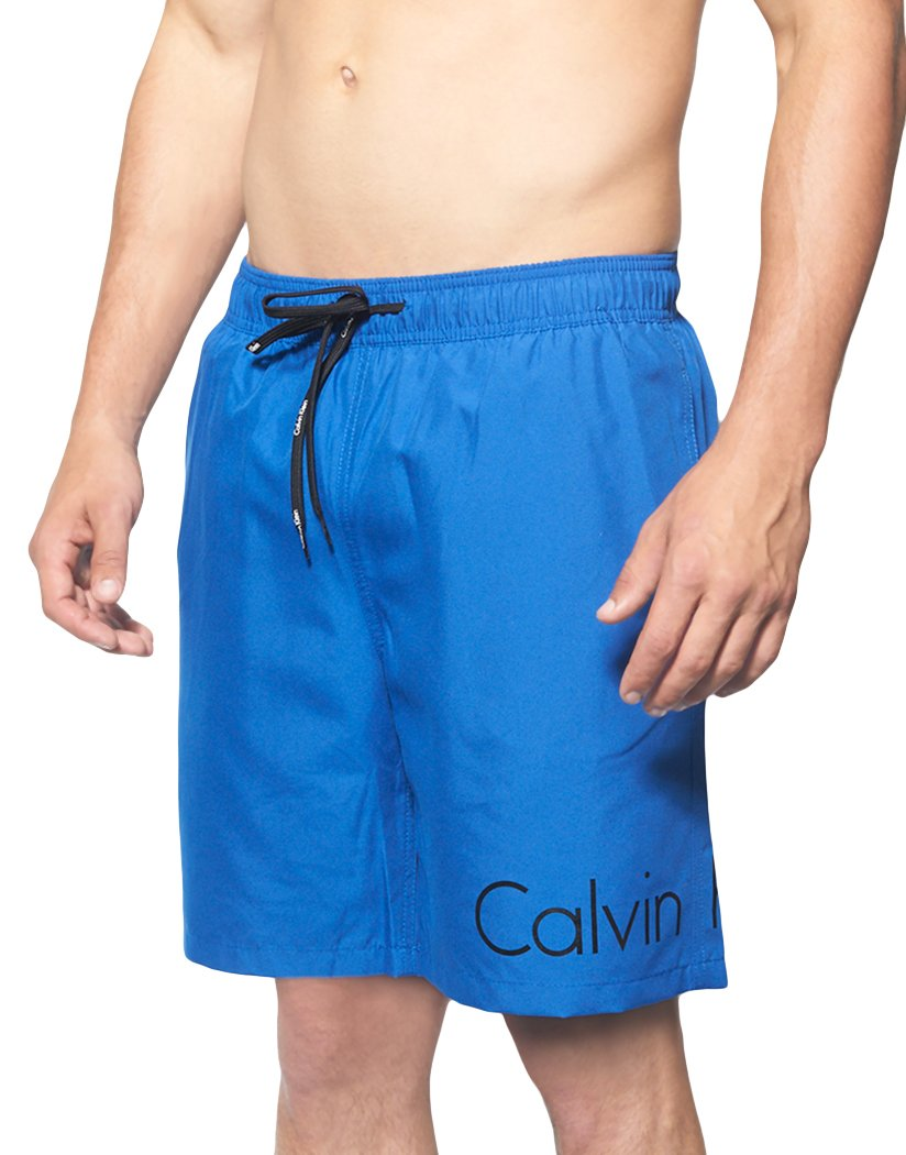 Surf The Web Front Calvin Klein Solid Volley Swim Short Surf the Web