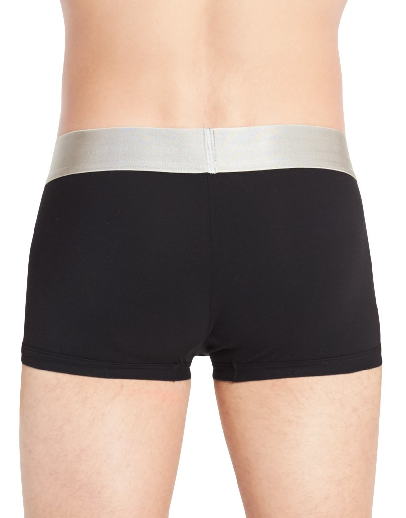 Black Back Calvin Klein Steel Micro 3PK Low Rise Trunk NB1656