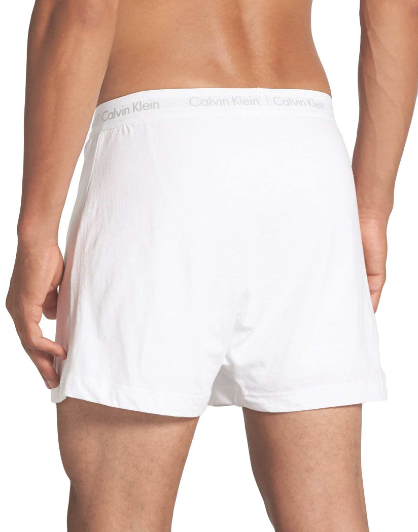 White Back 3-Pack Cotton Classic Knit Boxer Shorts