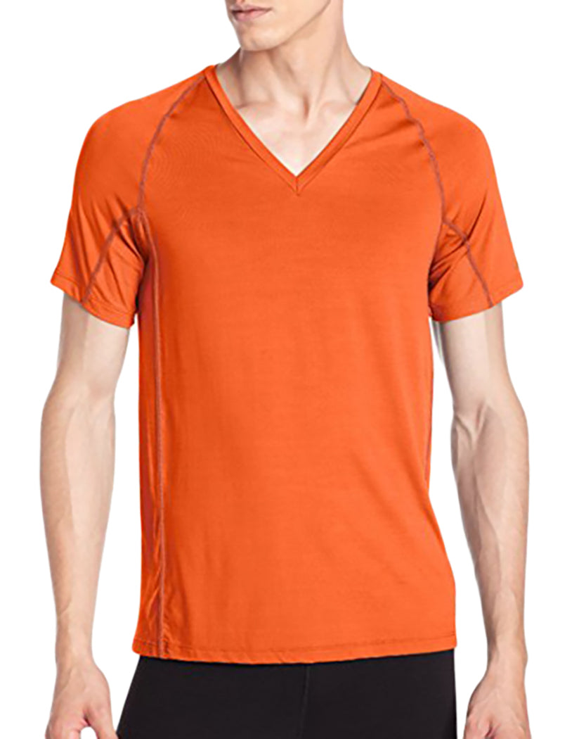 Clementine Front Athletic Short Sleeve V-Neck T-Shirt