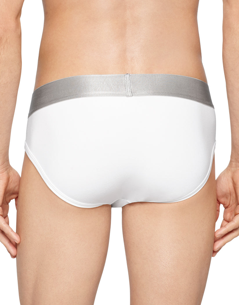 White Back Steel Micro Hip Brief