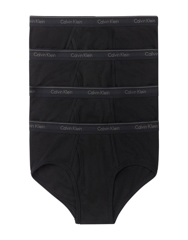 Black Front Calvin Klein 4-Pack Cotton Classic Brief U4000