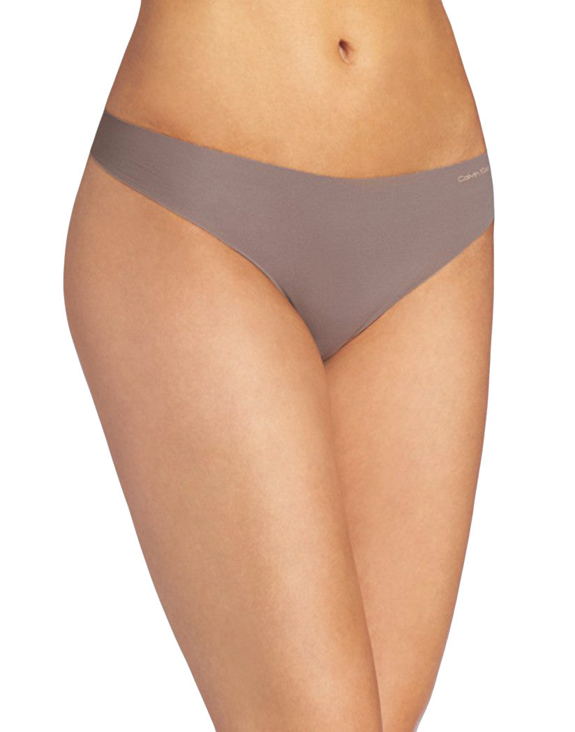 Calvin Klein Women Calvin Klein Invisible Thong French Roast French Roast S 034497251294