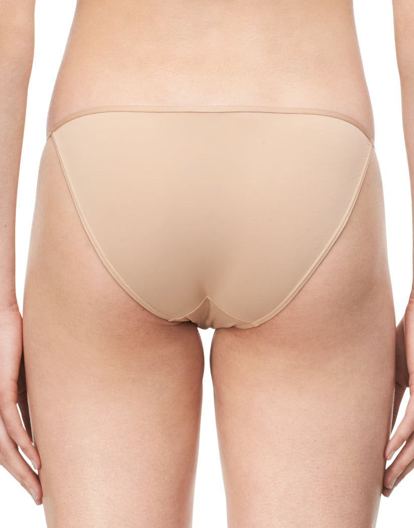 Bare Back Calvin Klein Women Sleek Microfiber Low Rise String Bikini Panty D3510