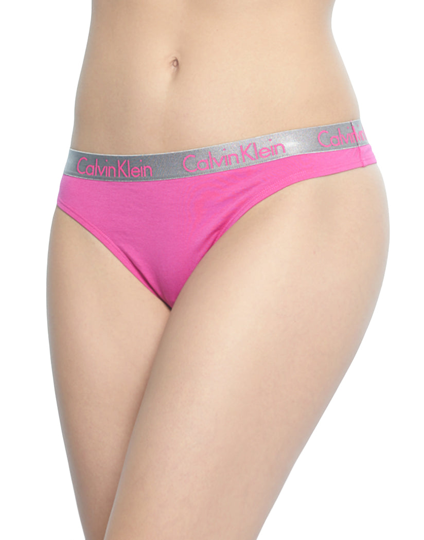 Sophie Pink Front Calvin Klein Women Cotton Radiant Thongs