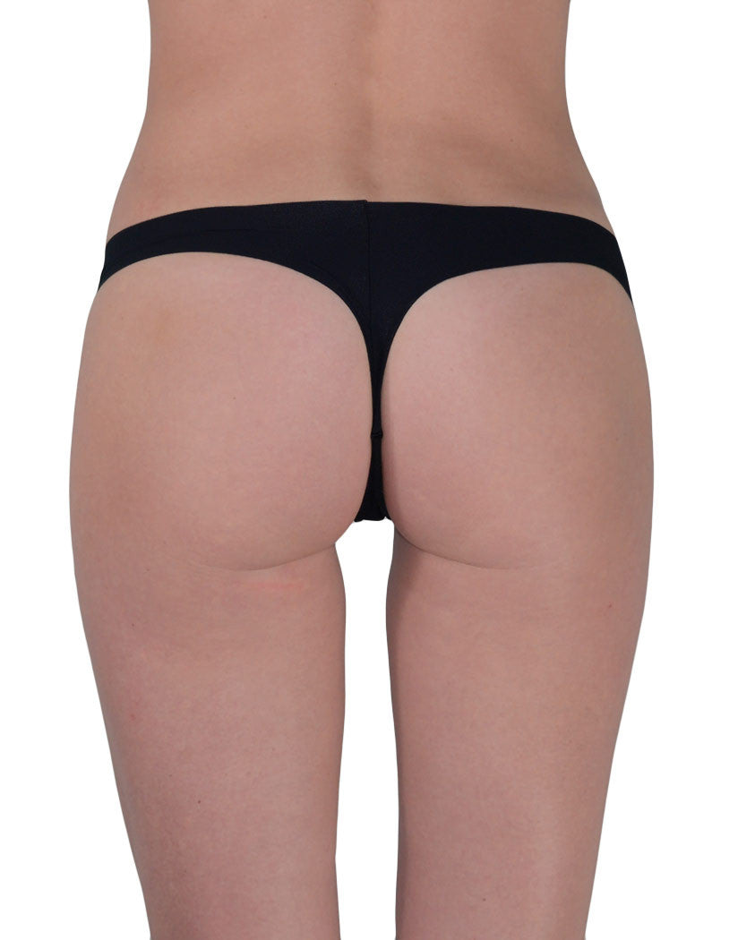 Black/Camel/Skin Back 3-Pack Invisible Thong