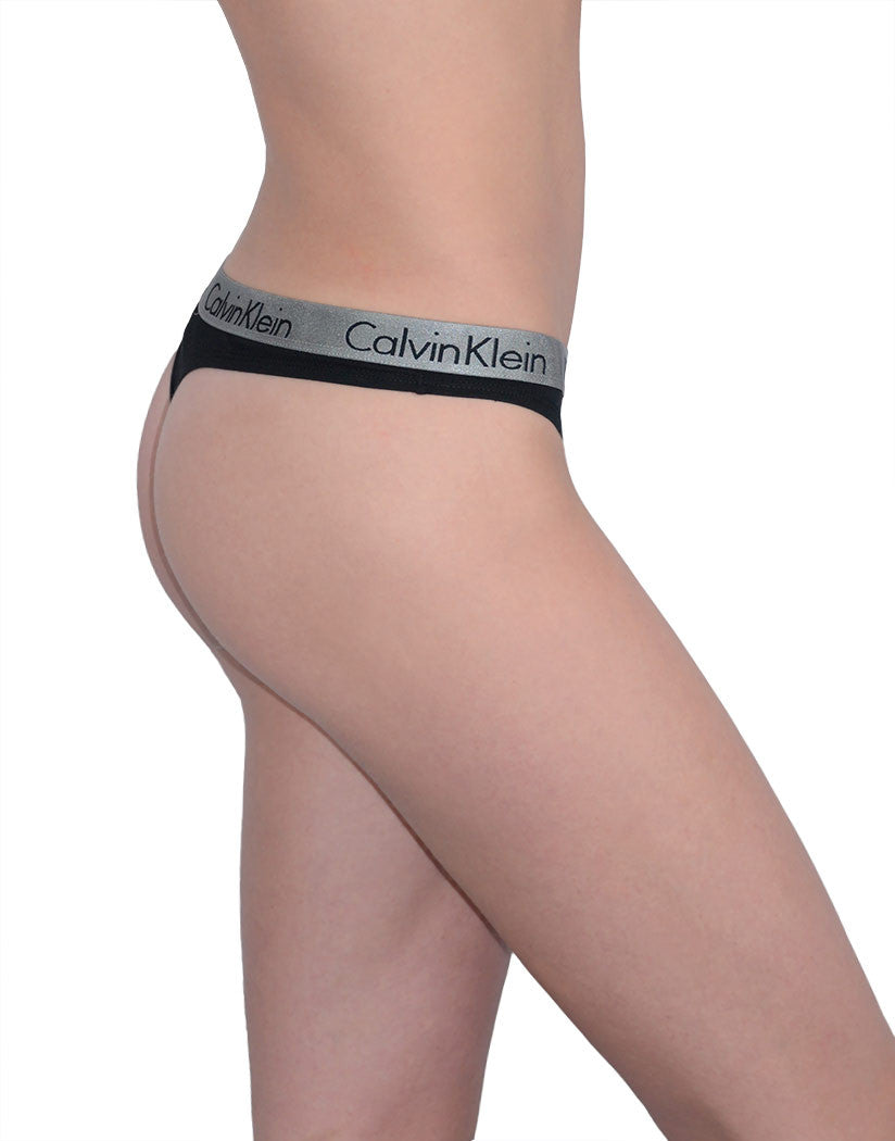 Black Side Calvin Klein 3-Pack Radiant Cotton Thong