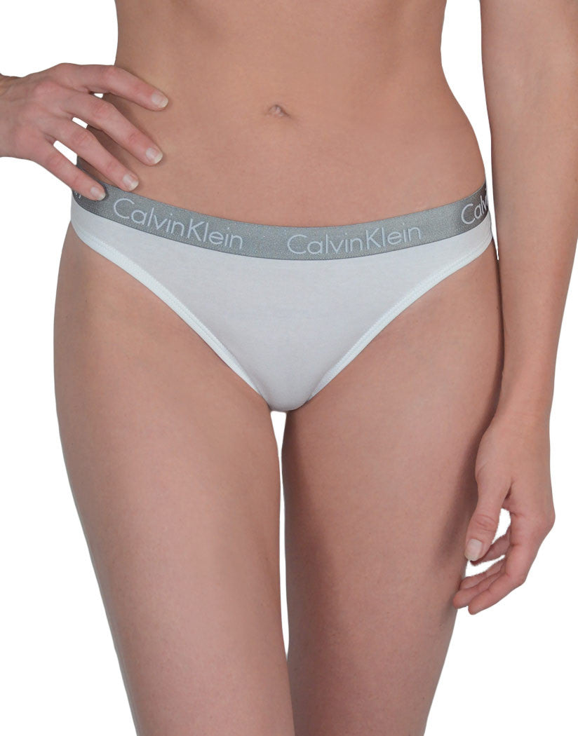 White Front Calvin Klein 3-Pack Radiant Cotton Thong