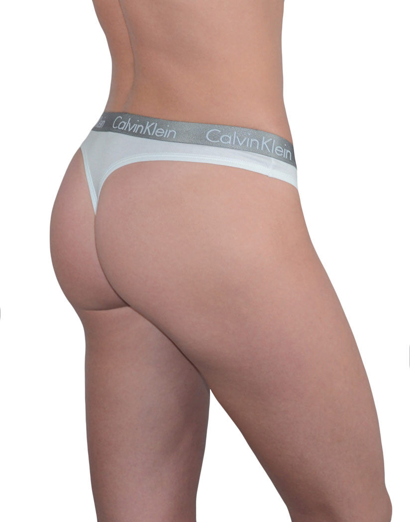 White Side Calvin Klein 3-Pack Radiant Cotton Thong