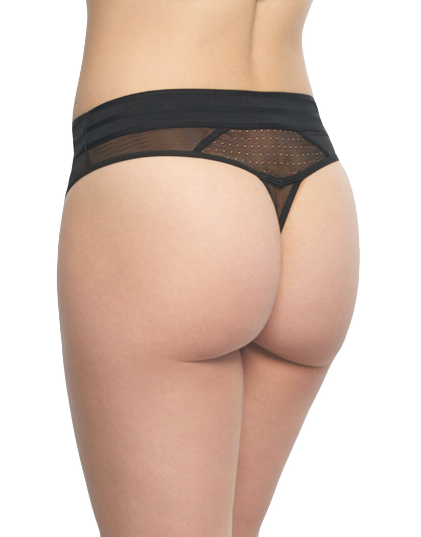 d632c8eaf Calvin Klein Mixed Mesh Breathable Sheer Thong Panty Black QF4496