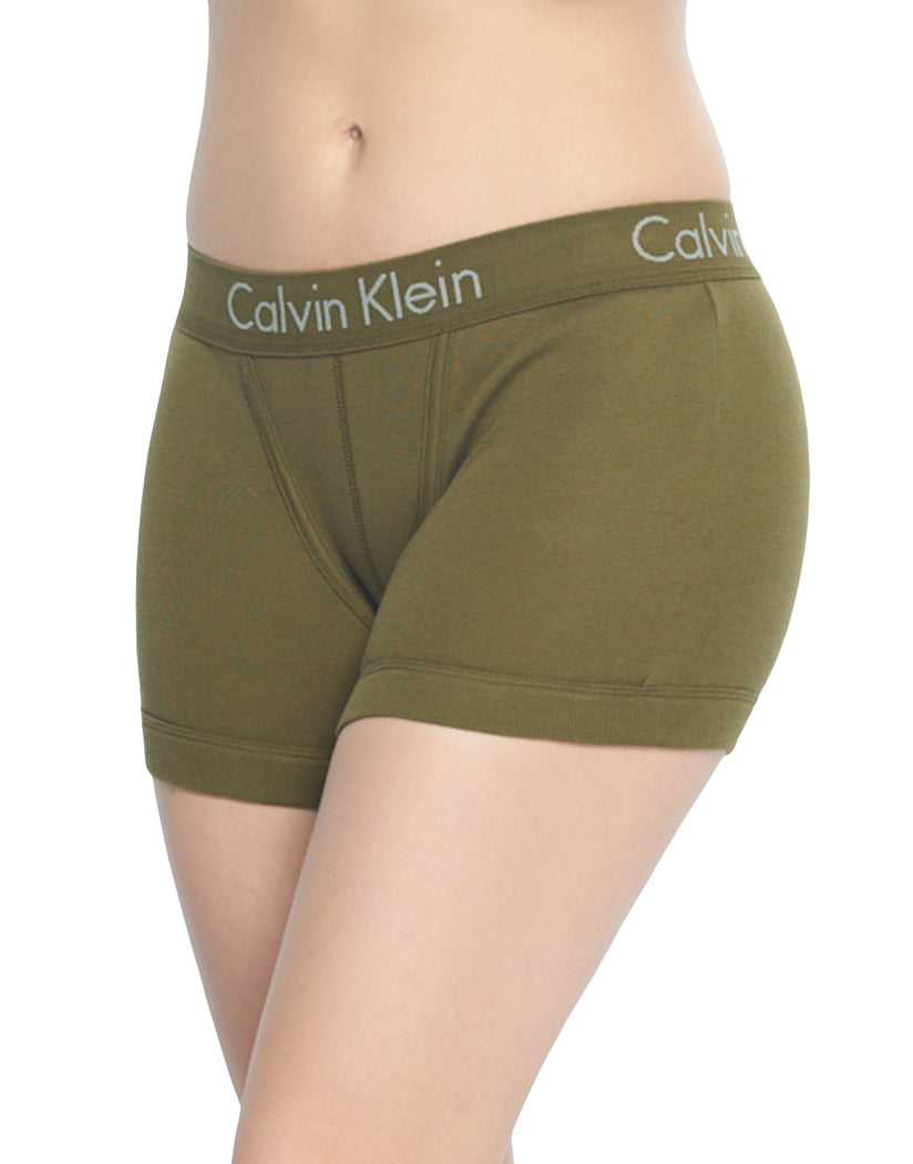 Riffle Green Front Calvin Klein Women Body Boyshort Panty Rifle Green