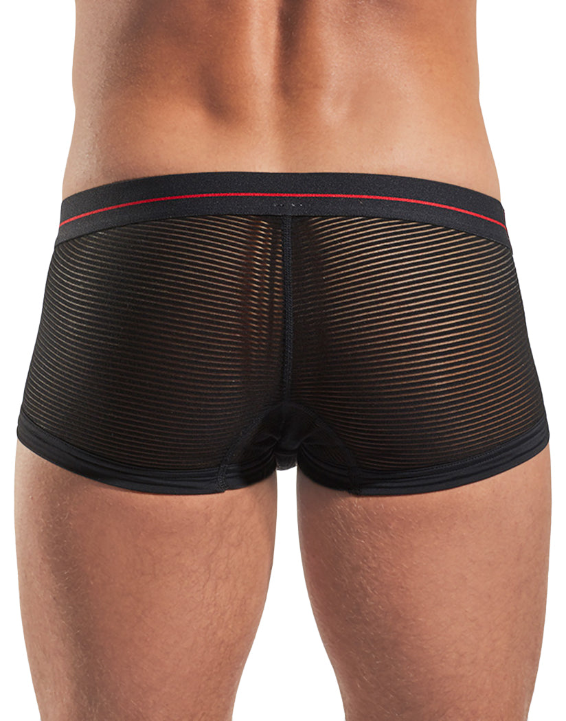 Eros Black Back Cocksox Sheer Trunk Underwear Cupid Red/Eros Black CX68SH
