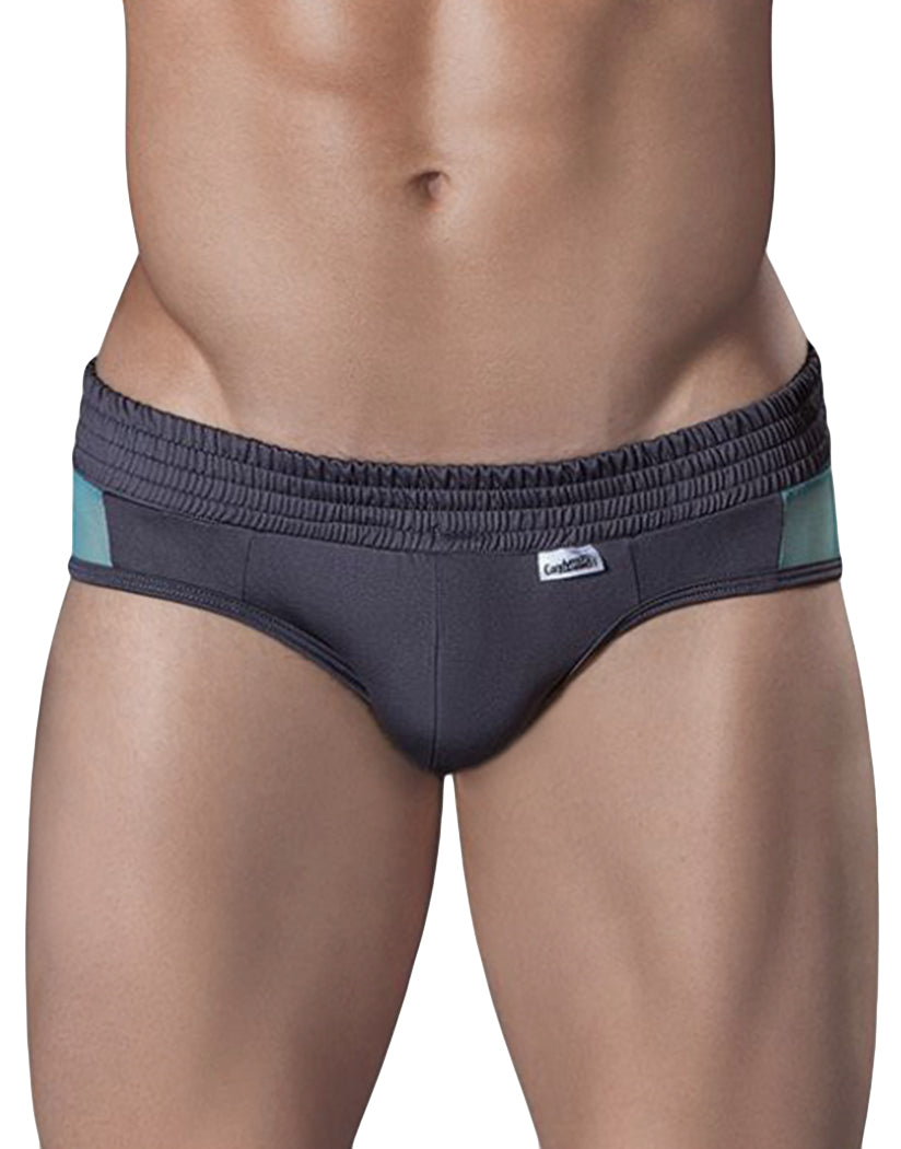 Gray Front Candyman Striped Brief 99229