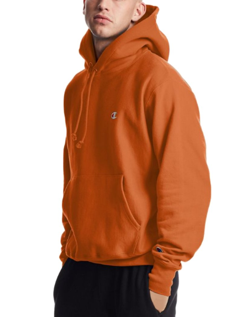 orange champion hoodie for men