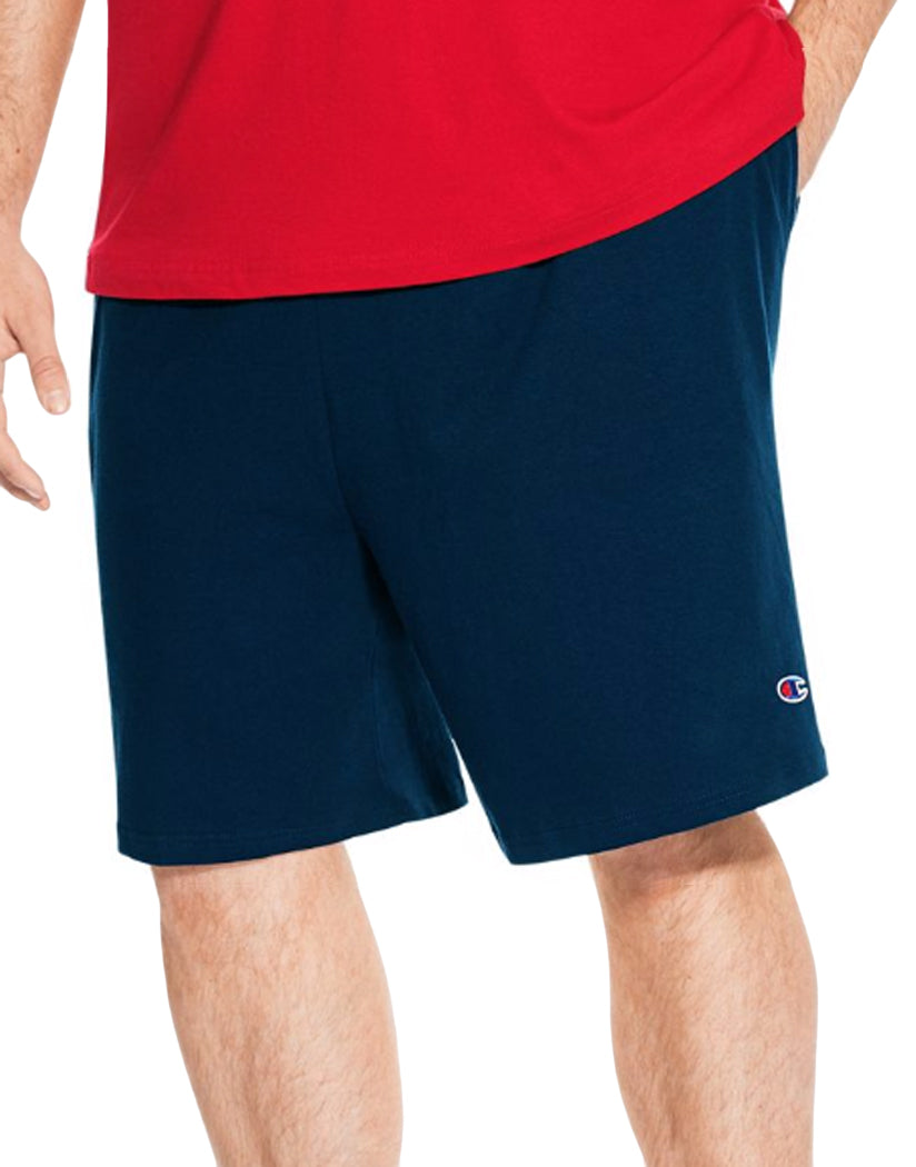 Navy Front Champion Mens Big Jersey Short CH301