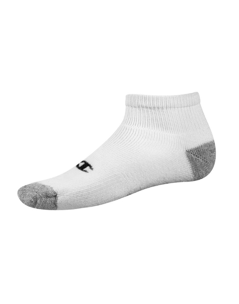 White Front Champion Mens Double Dry® Performance Quarter Sock 6-Pack White C601