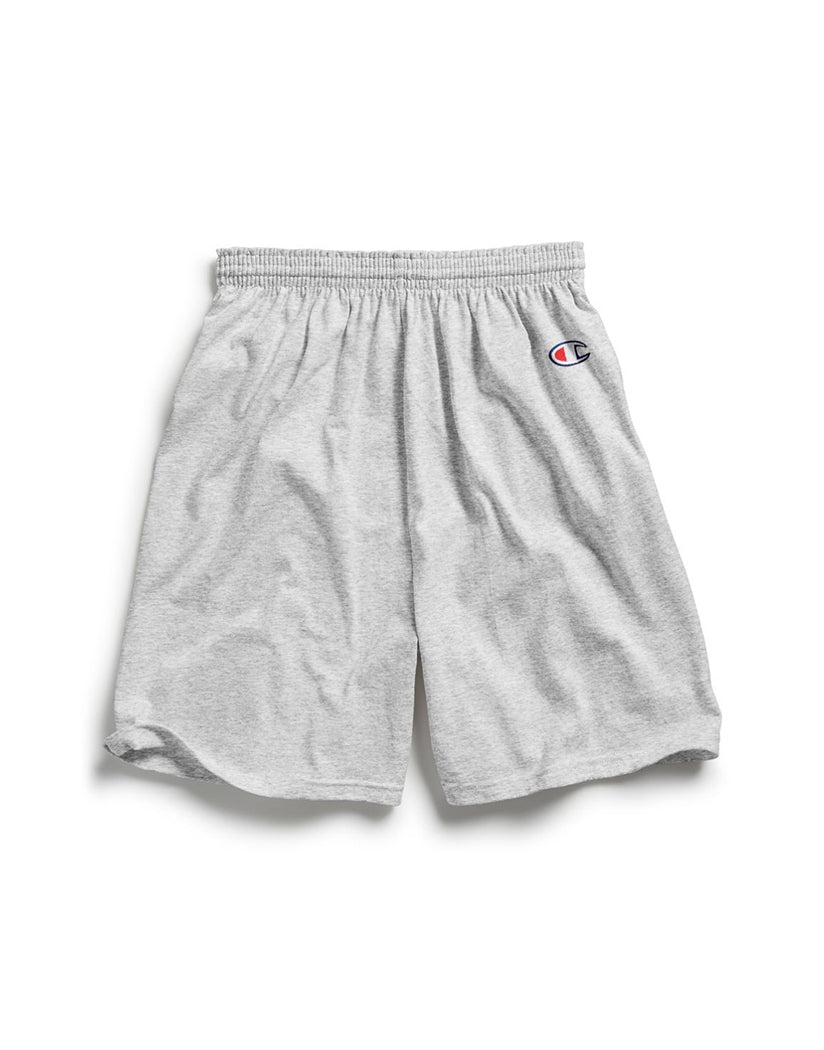 Silver Grey Front Champion Mens Gym Short 8187