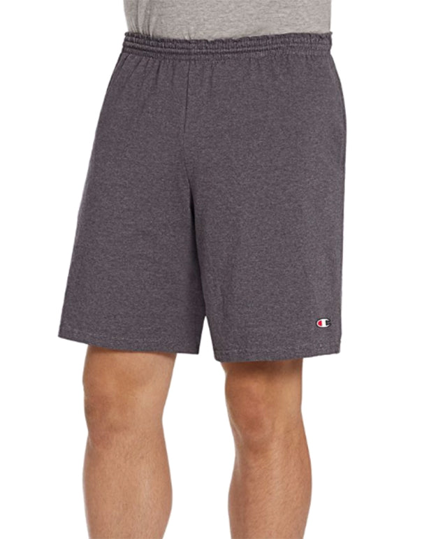 Champion Mens Authentic Cotton 9-Inch Shorts with Pockets Granite Heather L 011919053056