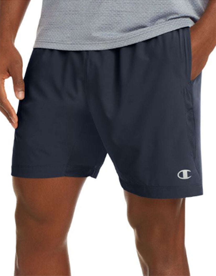 Champion Mens Champion Run Shorts, 7-inch Inseam Navy S 738994389367