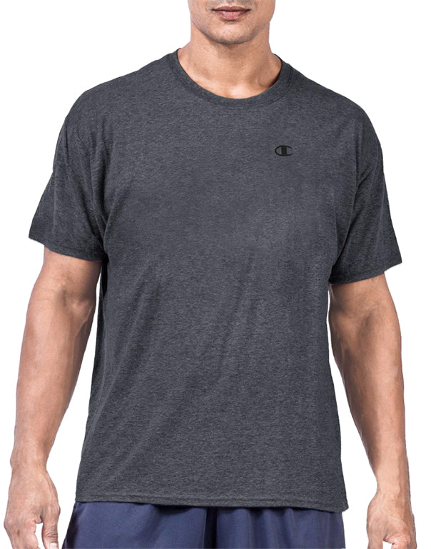 Granite Heather Front Big & Tall Mens Short Sleeve Jersey Tee