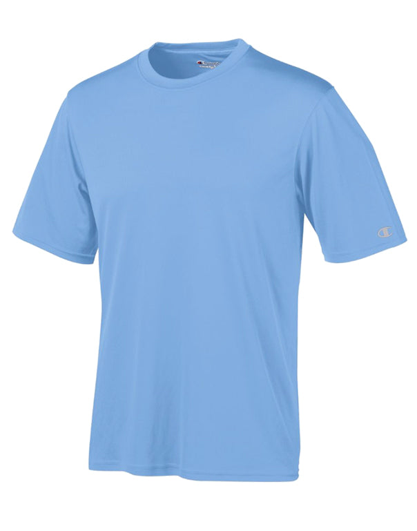 Champion Mens Champion Essential Double Dry Tee Light Blue S 011919742400