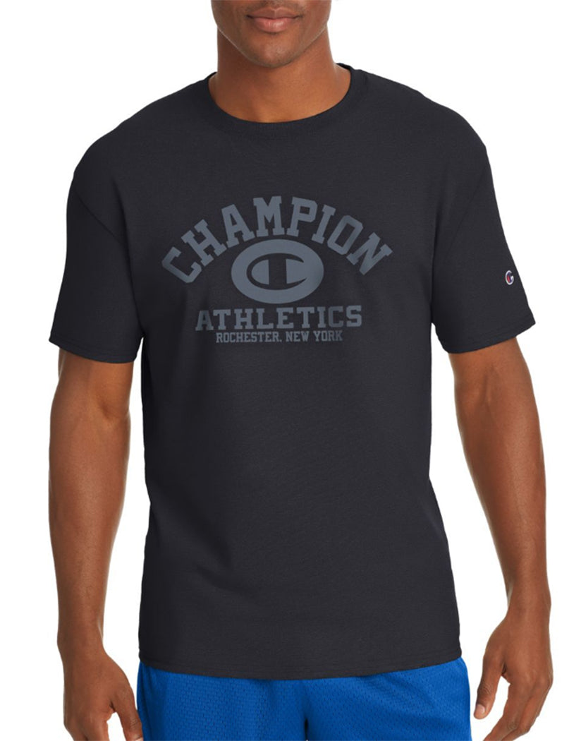 Black Front Champion Men's Jersey Tee, Homebase