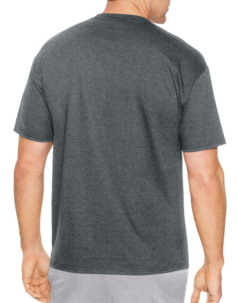 Charcoal Heather Back Champion Men's Jersey Tee, Homebase