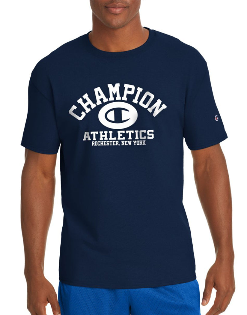 Navy Front Champion Men's Jersey Tee, Homebase