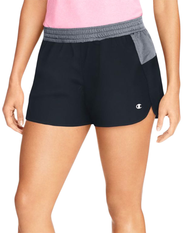 Champion Womens Sport Shorts 5 Black/Medium Grey XL 078715970468