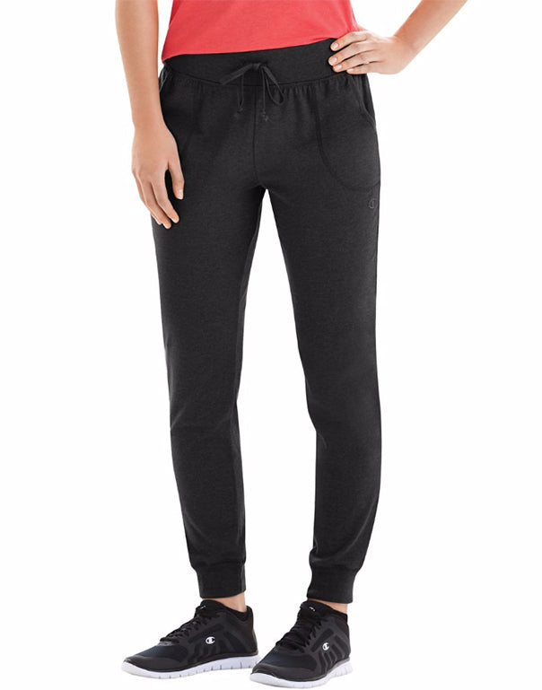 Champion Womens Jersey Pocket Pants Black S 078715978549