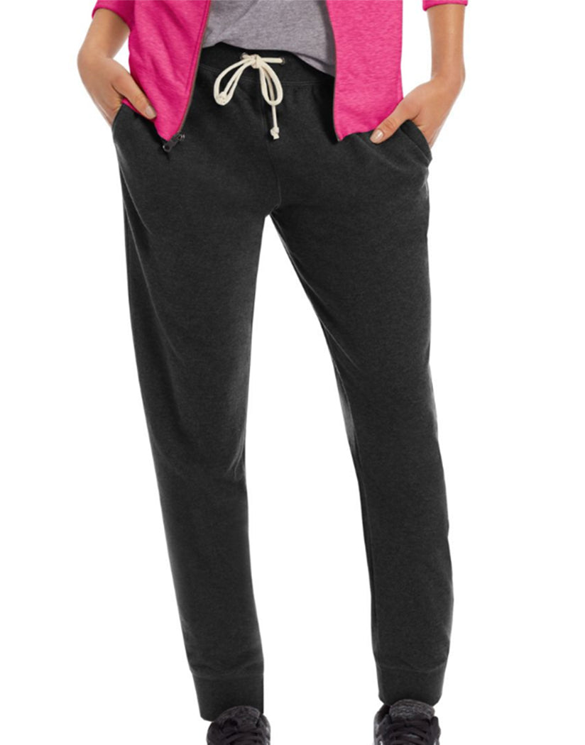 Black Front Champion Women's French Terry Jogger Pants