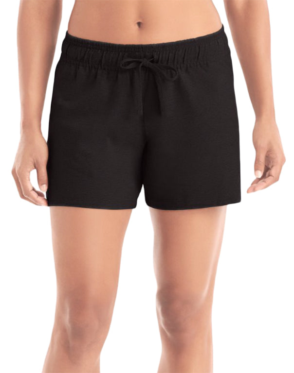 Champion Womens  Authenti Jersey Short Black S 078715156367