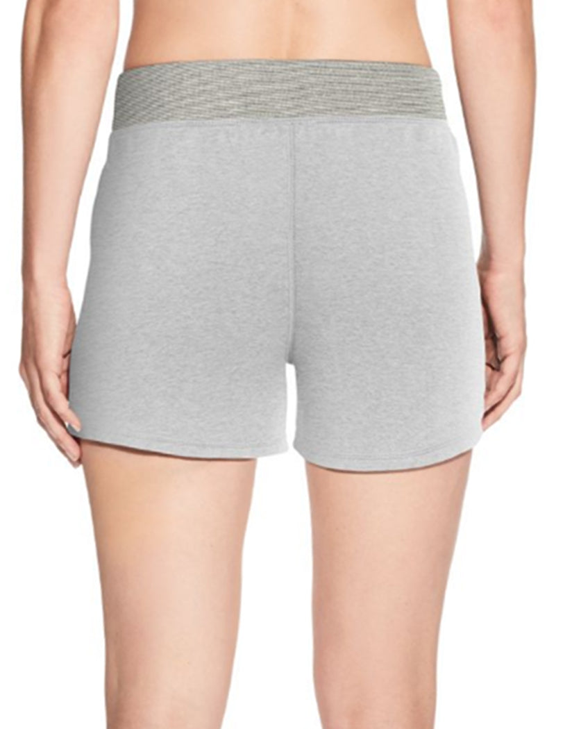Oxford Grey Heather Back Champion Women's Heritage French Terry Shorts With Stripes