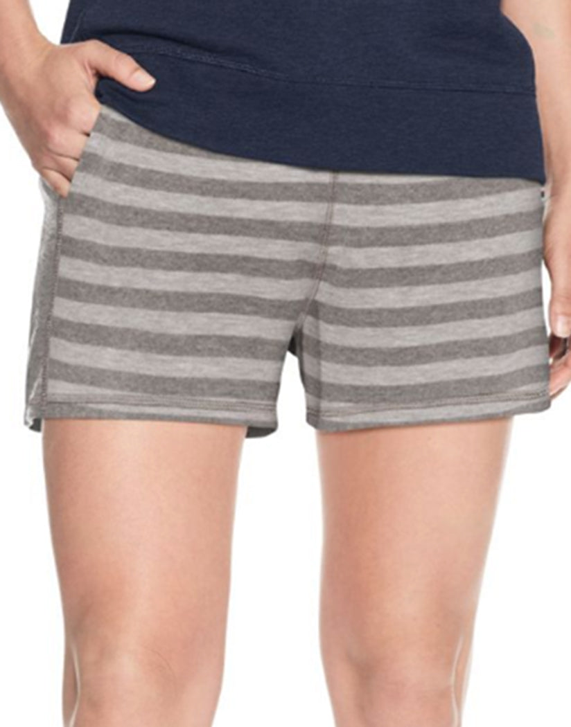 Oxford Grey Heather/Grey Heather Stripe Front Champion Women's Heritage French Terry Shorts