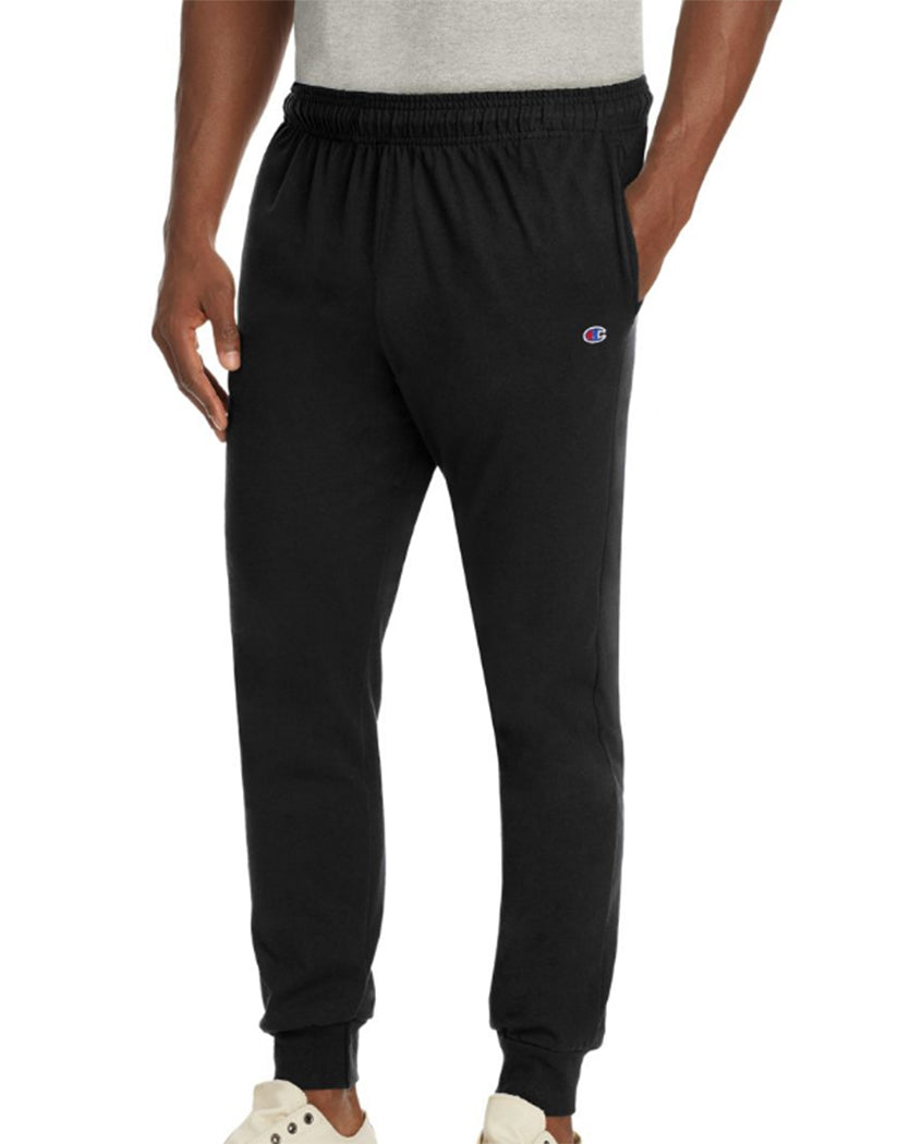 Black Front Champion Mens Jersey Jogger
